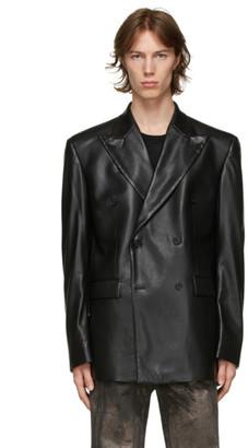 Misbhv Black Vegan Leather Blazer
