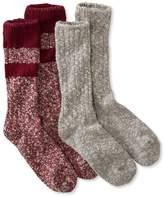 L.L. Bean L.L.Bean Cotton Ragg Camp Socks, Two-Pack