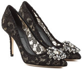 Dolce & Gabbana Lace Pumps with Crystal Embellishment
