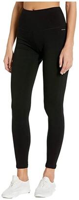 Jockey Active Cotton/Spandex Basics Full Length Leggings (Deep Black) Women's Casual Pants