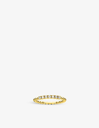Thomas Sabo Dot 18ct yellow gold-plated sterling silver stacking ring