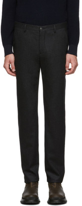 Giorgio Armani Black Virgin Melange Trousers