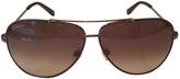 Salvatore Ferragamo Brown Metal Sunglasses