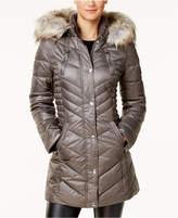 Laundry by Shelli Segal Faux-Fur-Trim Fleece-Lined Puffer Coat