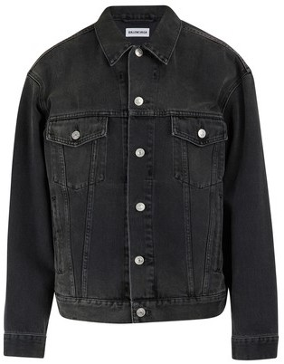 Balenciaga Rhinestone logo jacket