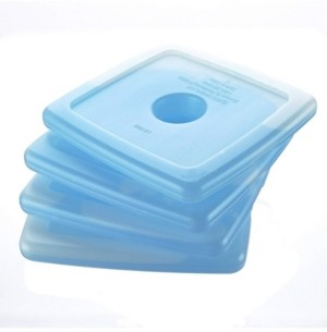 Fit & Fresh Cool Coolers Reusable Ice Packs, Set of 4