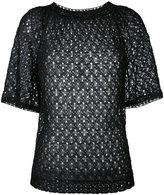 Missoni crochet-knit shortsleeved T-shirt
