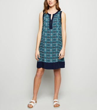 New Look Tile Print Tunic Dress