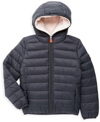Save The Duck Little Boy's & Boy's Quilted Faux Fur-Lined Nylon Puffer Jacket