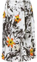 Isabela Capeto floral embroidery flare skirt