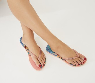 Havaianas Slim Tropical Flip Flops Silk Rose