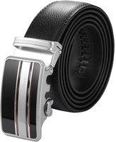 K&S KS Men's Luxury Genuine Leather Belt Sliding Automatic Lock Alloy Buckle KB066