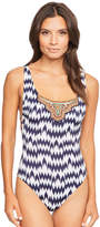 Watercult Nomadic Beach Embellished Swimsuit