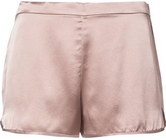 Fleur Du Mal Elasticated Back Silk Shorts