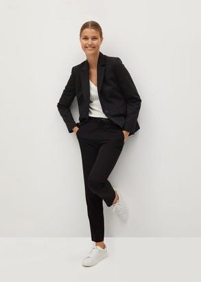 MANGO Belt suit pants dark navy - 1 - Women