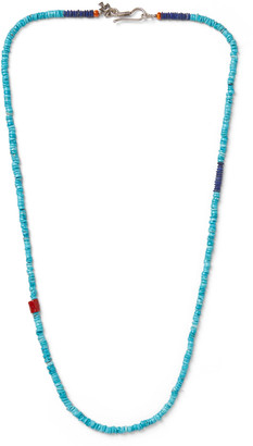 Peyote Bird Turquoise, Coral And Sterling Silver Necklace