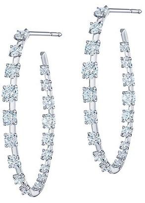 Kwiat Starry Night 18K White Gold & Diamond Hoop Earrings