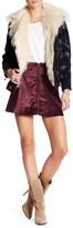 Free People Velvet Back Zip Mini Skirt