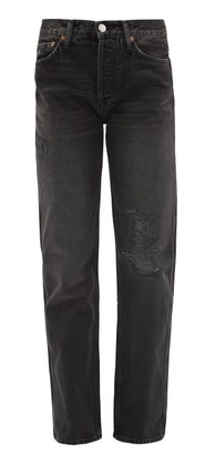 RE/DONE Loose-fit Straight Jeans - Womens - Dark Grey
