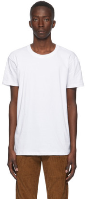 Naked and Famous Denim White Circular Knit T-Shirt