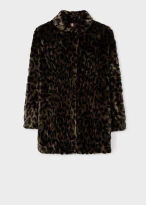 Paul Smith Women's Leopard Faux Fur Coat
