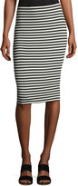 Vince Camuto Striped Pull-On Midi Pencil Skirt