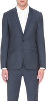 Sandro Notch Flannel Wool Jacket
