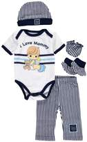 "Precious Moments Baby Boys' ""I Love Mommy"" 5-Piece Layette Gift Set"