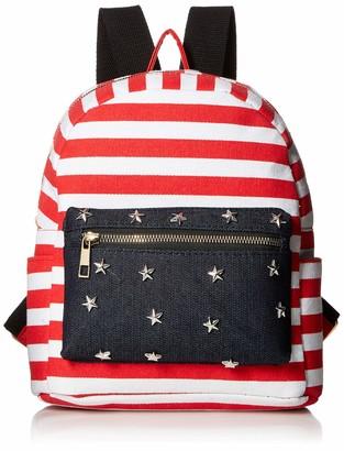 Twig & Arrow Women's Stripes & Stars Mini Dome Backpack