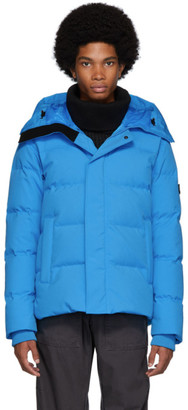 Kenzo Blue Down Quilted Puffer Jacket