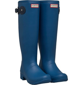 Hunter Womens Tour Wellington Boots Nimbus/Navy