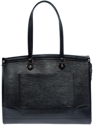 Louis Vuitton Black Epi Leather Madeleine GM Bag