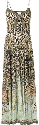 Camilla Front Tie Animal Maxi Dress