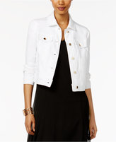 Thalia Sodi Lace-Back Denim Jacket, Only at Macy's