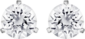 Swarovski Women's Solitaire Earrings Pair of Pierced Stud Earrings with Crystals Rhodium Plated from the Solitaire Collection