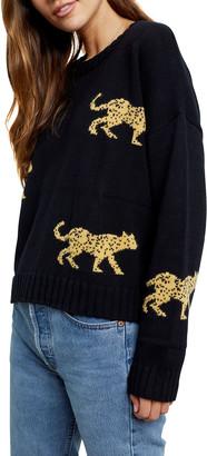 Rails Perci Jungle Cat Cotton-Cashmere Sweater