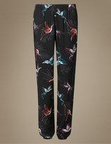 Marks and Spencer Bird Print Cuffed Hem Pyjama Bottoms
