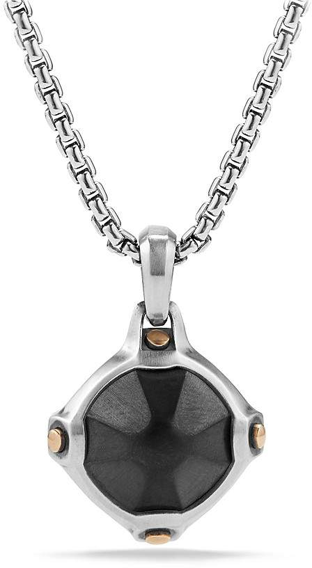David Yurman Anvil Amulet with Hematine and Bronze
