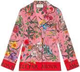 Gucci Flora Snake silk shirt