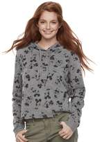 Disney Disney's Minnie Mouse & Mickey Mouse Juniors' Print Crop Hoodie