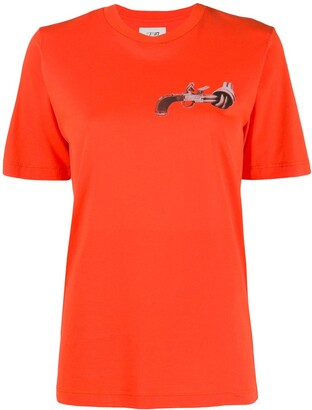 Kirin gun print T-shirt