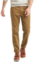 Gap Vintage wash embroidered slim fit khakis