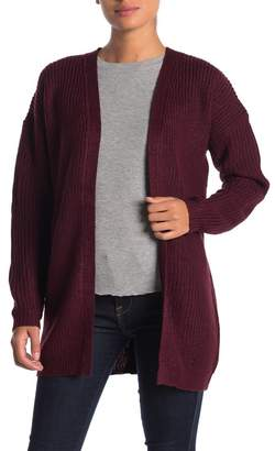 Poof Lace Up Back Cardigan Sweater