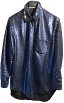 VIVETTA Blue Glitter Jacket for Women