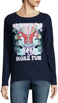 Fifth Sun The Little Mermaid Brushed Fleece Sweatshirt- Juniors