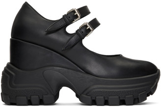 Miu Miu Black Mary Jane Wedge Sneaker Heels