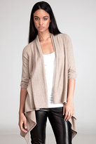 Juicy couture Dark Oatmeal Draped Cardigan