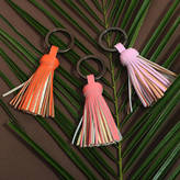 Undercover Luxurious Leather Tassel Keyring