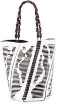 Proenza Schouler Hex Medium Woven Leather Bucket Bag, Black