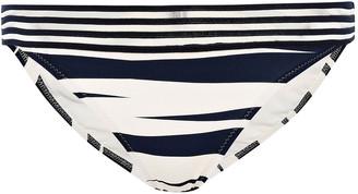 Emma Pake Mesh-trimmed Zebra-print Low-rise Bikini Briefs